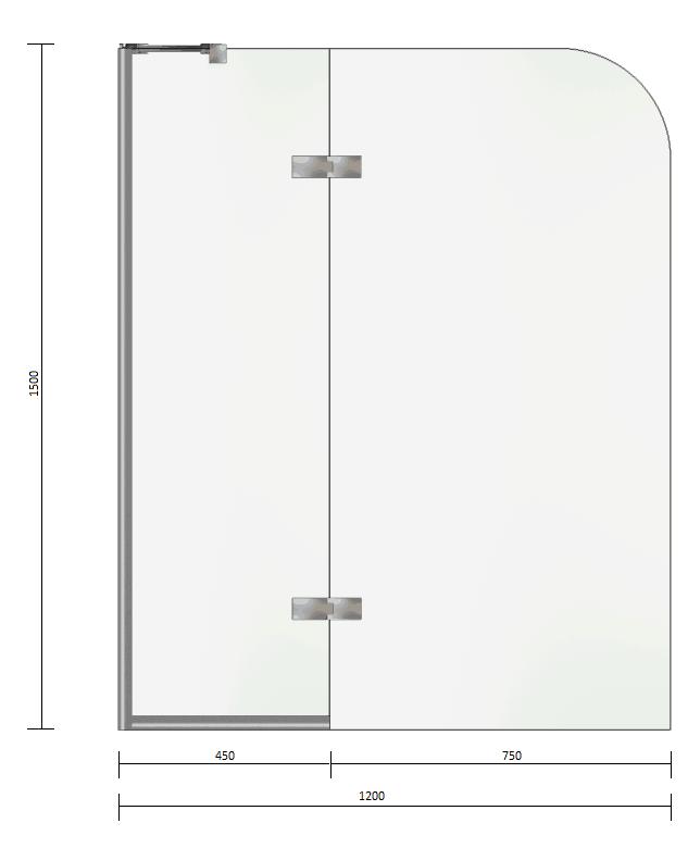 Bliss Shower Bath Door Dimensions