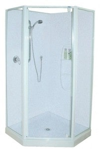 Angle Shower 45 deg Doors White Door Frame only
