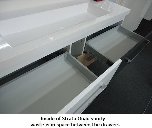 Inside Strata Quad Wall Hung Vanity