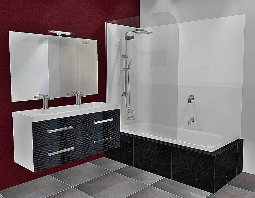 Bliss Shower Bath Door Closed