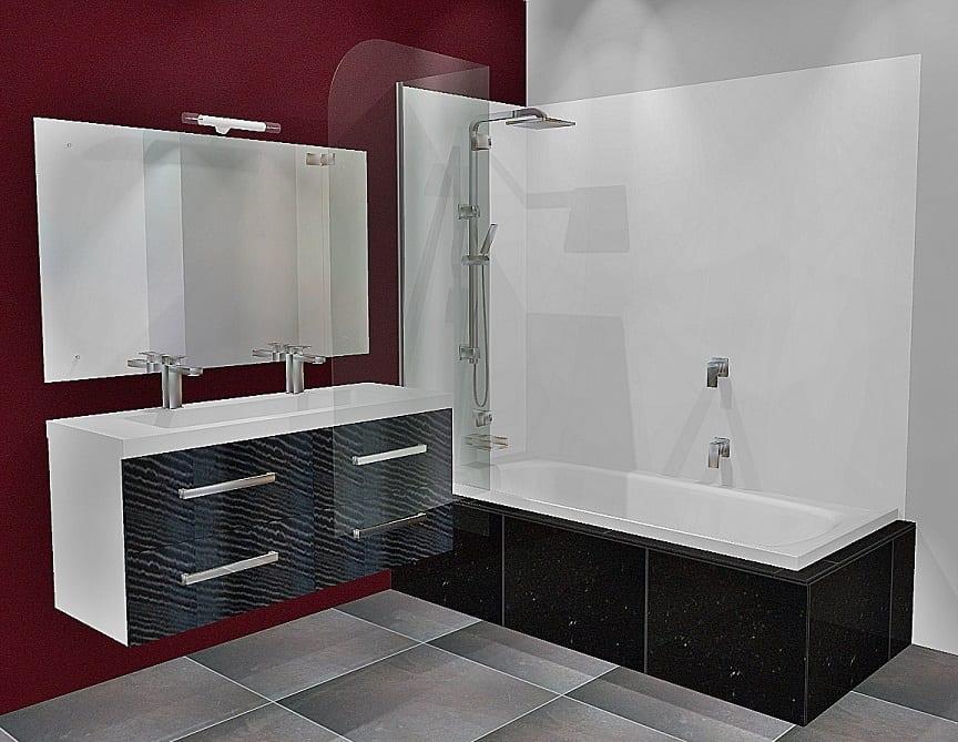 Bliss Shower Bath Door Open