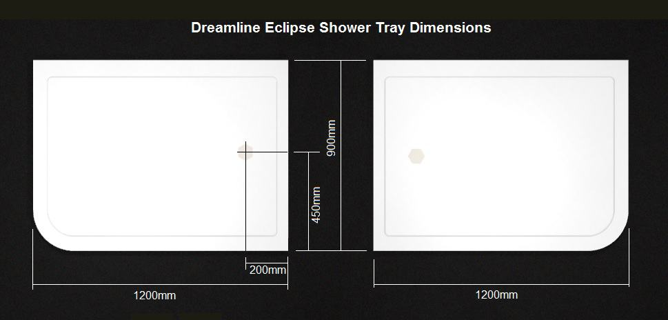 Eclipse shower tray dimensions
