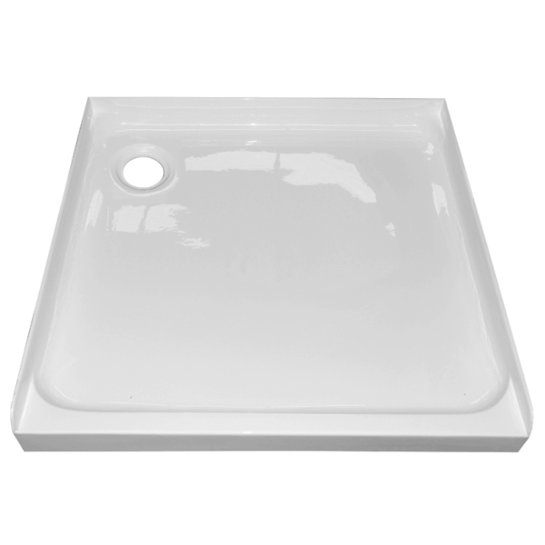 900 square alcove shower tray rear waste