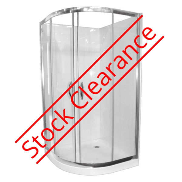 Shower Cubicle Curved Collesium 1m rear waste Henry Brooks-clearance