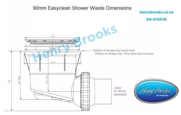 shower waste drawings Henry Brooks