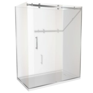 1800 x 900 shower 2 walled Corner Henry Brooks lh-sq