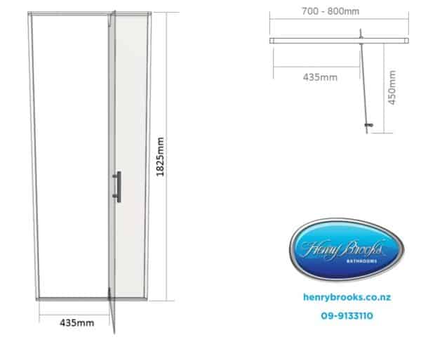 Shower door dimensions 700-800 henry brooks