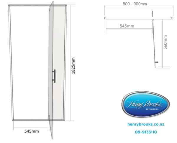 Shower door dimensions 800-900 henry brooks