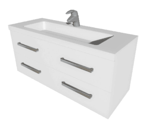 Wall Hung Vanity Strata 1200mm wide