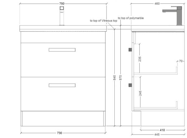 Floor Standing Strata 750mm