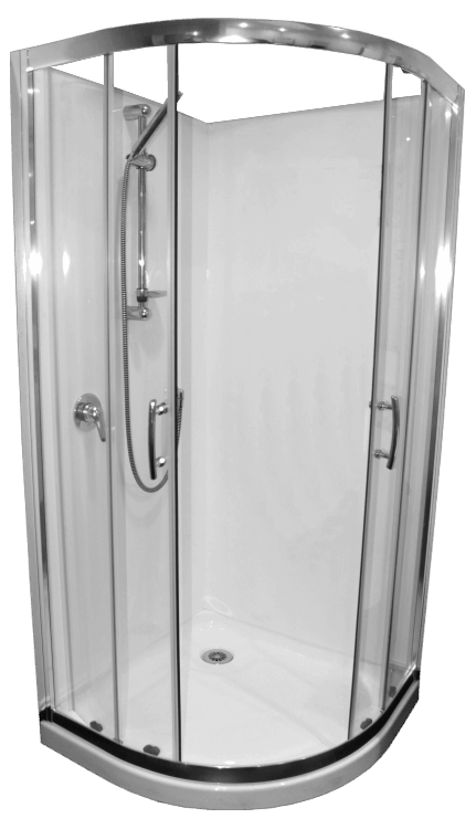 Shower Door Curved Collesium