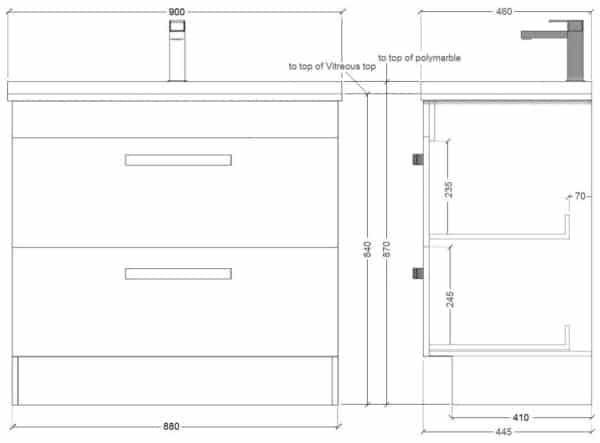 Floor Standing Strata 900mm