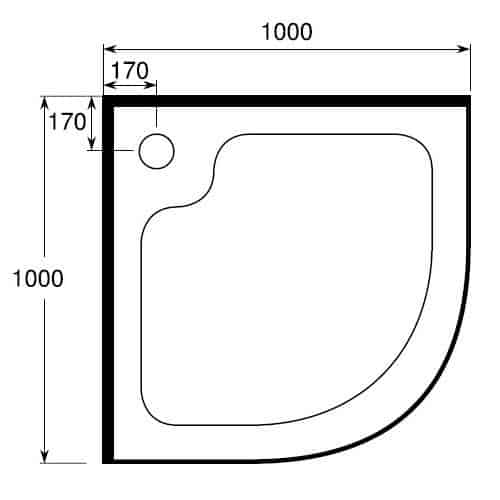 Round - Curved Shower tray