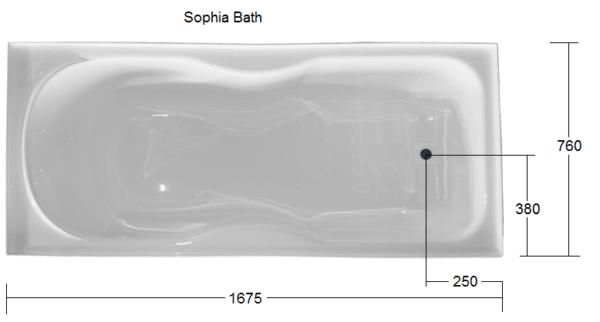 Sophia 1675 x 760 bath