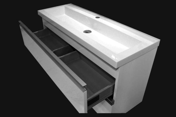 Wall Hung Vanity Linear Slimline 1005