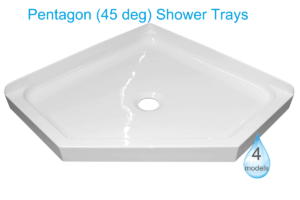 Pentagon 45 Deg Shower trays