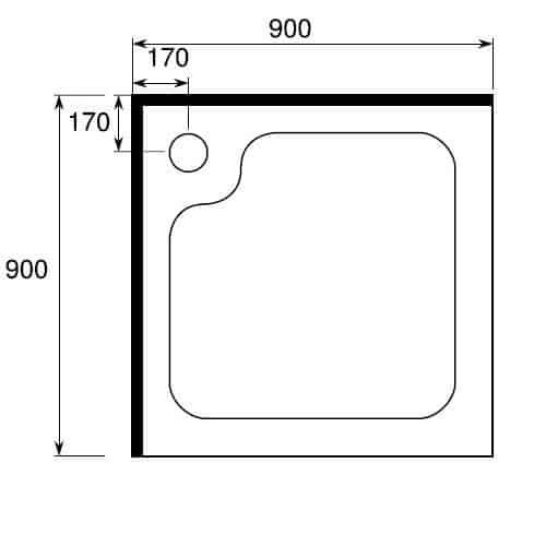 Shower Cubicle Square Corner