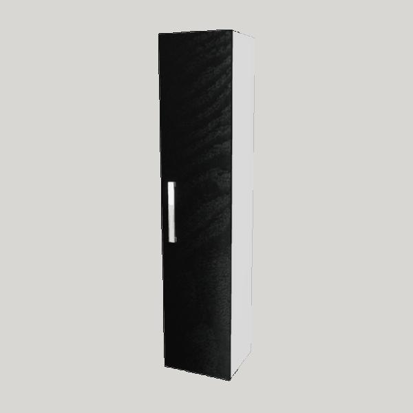 Strata Tall Tower black woodgrain-Bathroom Direct