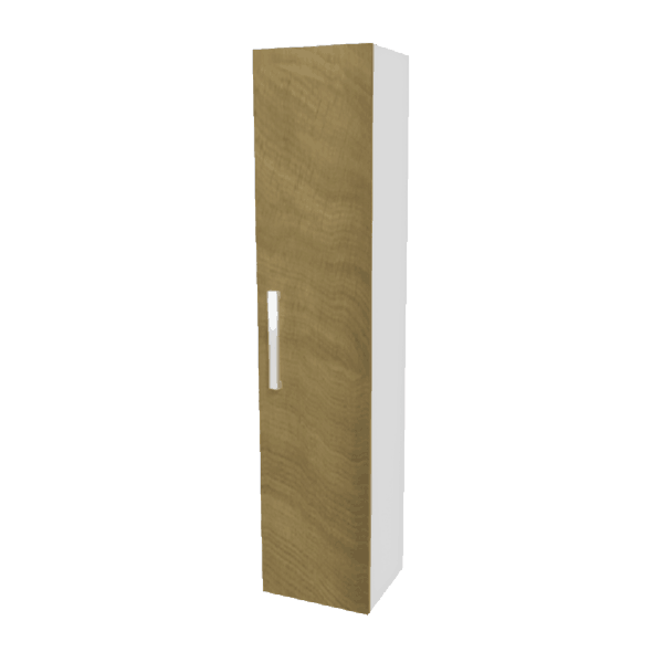 Strata Tall Tower light oak woodgrain-Bathroom Direct