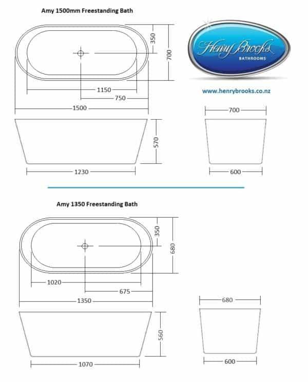Amy freestanding bath specs -HB