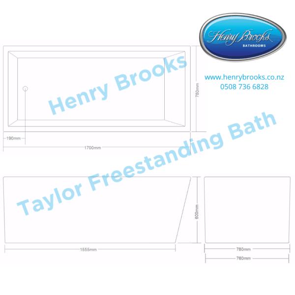 Taylor freestanding bath 1700 Henry Brooks
