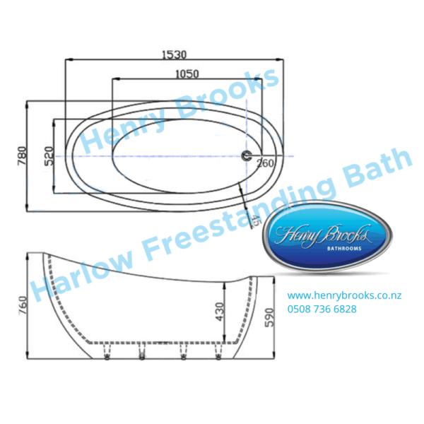 dimensions Harlow F-S bath Henry Brooks
