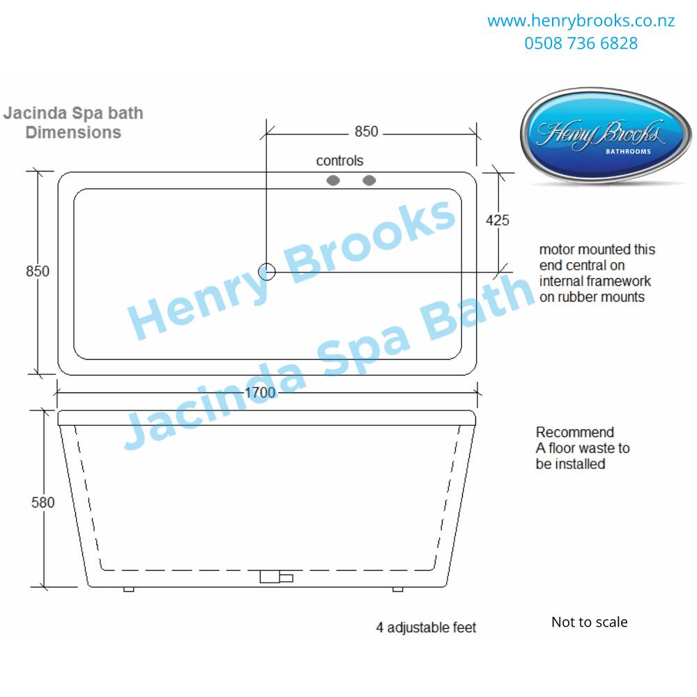 dimensions jacinda spa bath Henry Brooks