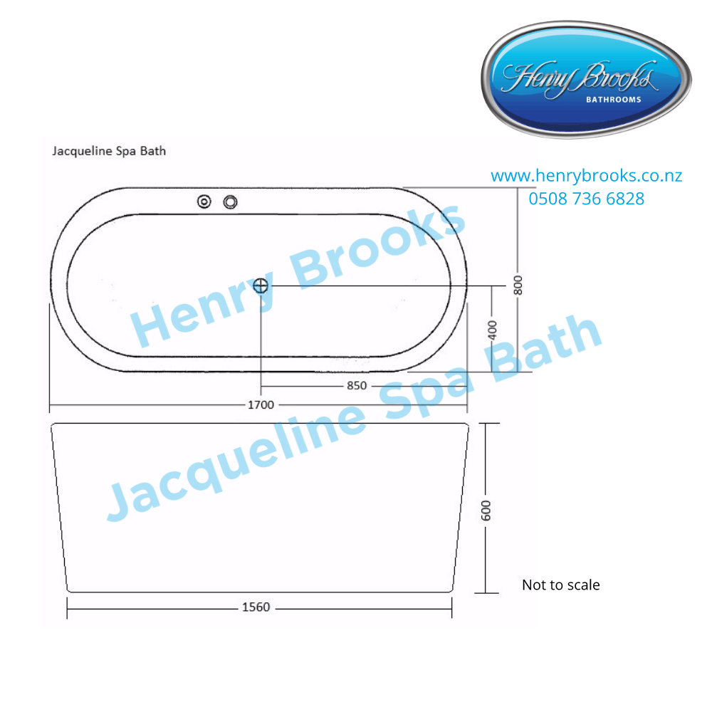 dimensions jacqueline spa bath Henry Brooks