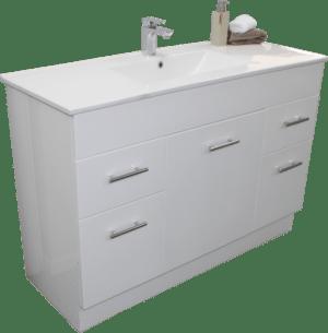 Albion Floor 1200 vanity vitreous china top