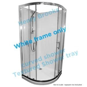 1000 x 1000 curved framed shower textured tray H-Brooks