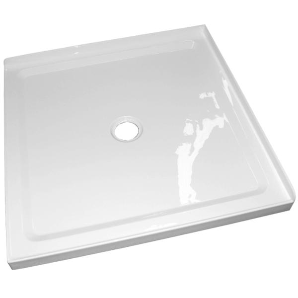 1m x 1m corner shower tray center waste