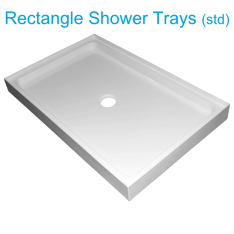 Rectangle shower trays 4 lip Henry Brooks