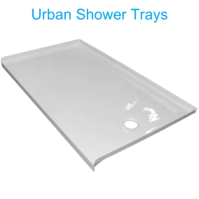 Urban 1400 alcove low profile Shower tray Henry Brooks