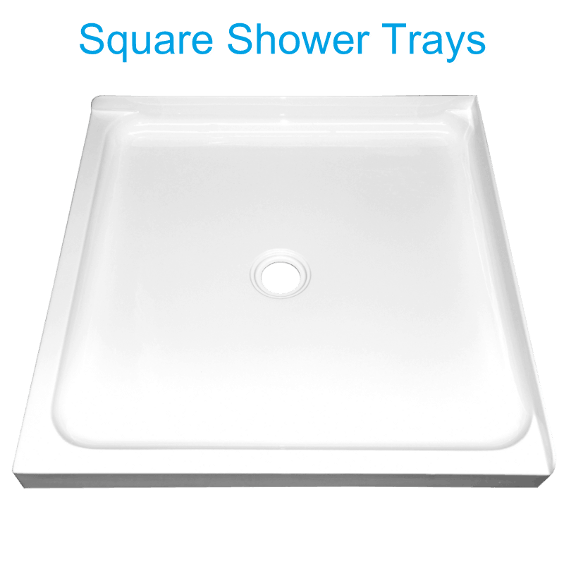 corner square shower tray center waste Henry Brooks