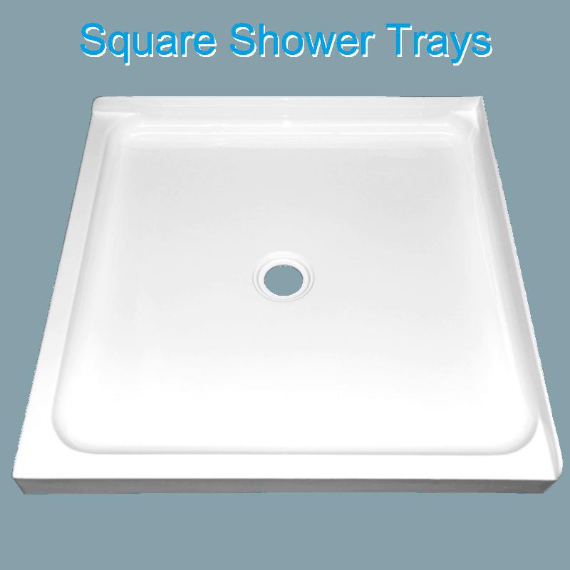 corner square shower tray center waste Henry Brooks