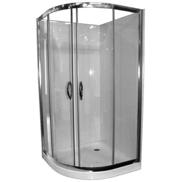 Shower Cubicle Curved Collesium 1m rear waste Henry Brooks