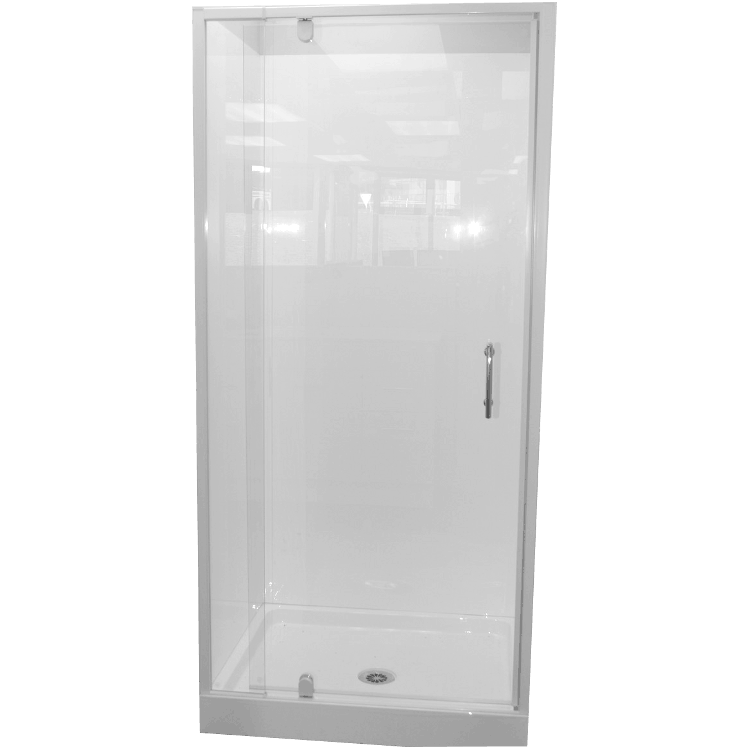 Shower Cubicle 900 X 760 3 Sided Alcove Complete With Tray