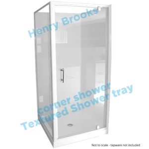 1000 x 1000 shower textured tray H-Brooks