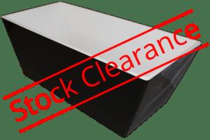 freestanding Pamela black & white bath Henry Brooks
