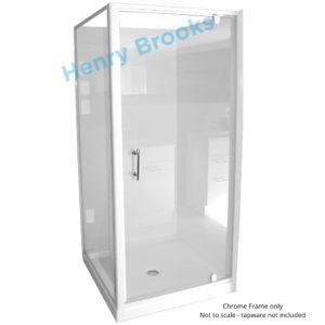 Shower cubicle 900 2 corner