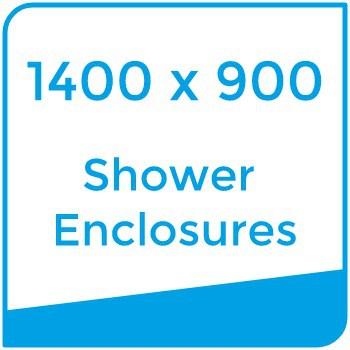 1400 x 900 shower enclosures