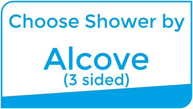 Choose Shower by alcove (3 sided)