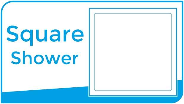 Choose shower by square shape