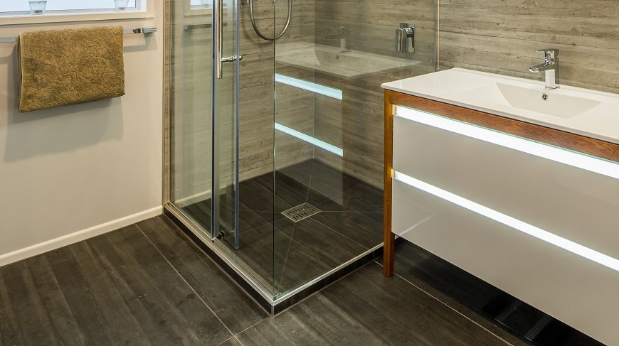 Installed Didosi Tileable shower tray by Henry Brooks