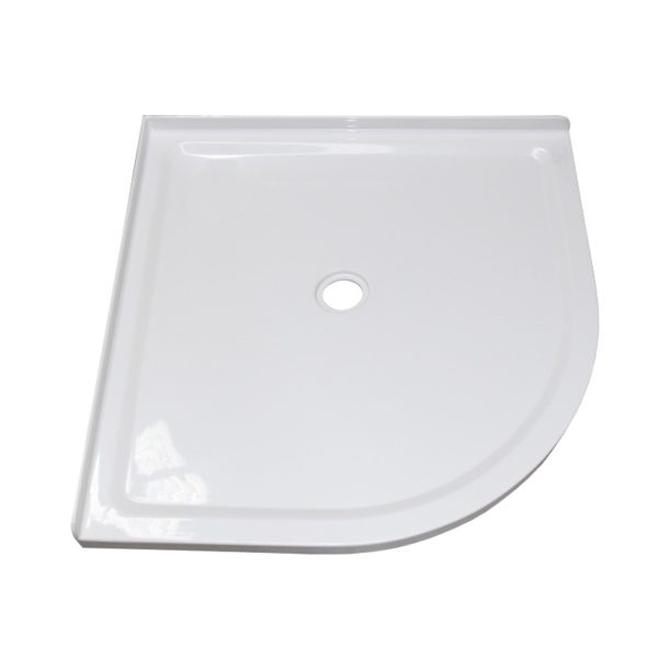 900 x 900 Center waste Collesium low profile shower tray view 2