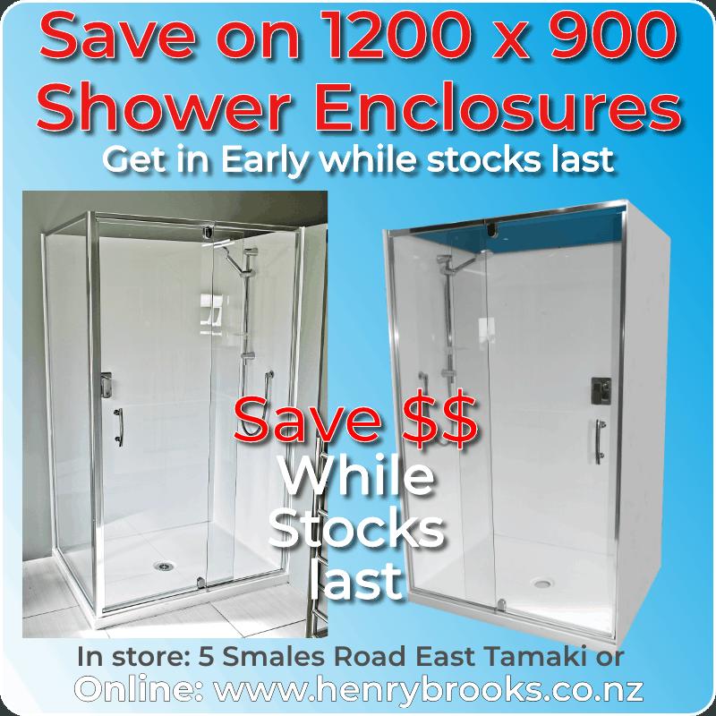 Bathroom Sale 1200 x 900 enclosures sq
