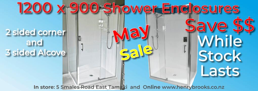 Bathroom Sale 1200 x 900 enclosures